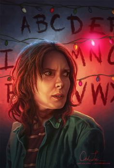 "Joyce Byers from Stranger Things by Chelsea Lowe - ""Maybe I am a mess. Maybe I'm crazy. Maybe I'm out of my mind! But, God help me, I will keep these lights up until the day I die if I think there's a chance that Will's still out there!"""