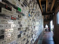 I want to try this restaurant.  I just love how they used old cassette tapes to fill a wall!