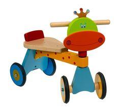 Bici de 4 ruedas Dunk. De madera. Especialmente adecuado para que los más chiquitines empiecen a montar bici.