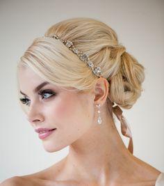 Wedding Headband Bridal Rhinestone Headband by PowderBlueBijoux, $54.00
