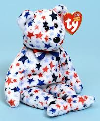 Red, White & Blue, Ty Beanie Baby bear reference information and photograph. Beanie Baby Bears, Ty Beanie Boos, Retro Toys, Vintage Toys, Ty Stuffed Animals, Ty Bears, Teddy Bear Cartoon, Ty Babies, Ty Toys