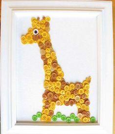 button giraffe craft
