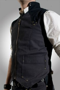 Vigilante Vest Grey/Black by Crisiswear on Etsy, $120.00