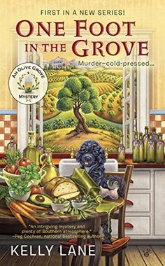 One Foot in the Grove: An Olive Oil Grove Mystery (An Olive Grove Mystery) by Kelly Lane http://www.amazon.com/dp/0425277224/ref=cm_sw_r_pi_dp_c0xkwb0XVCCHJ