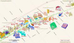 Detailed Road Street Names Plan Favourite Points Interest - Las vegas us map