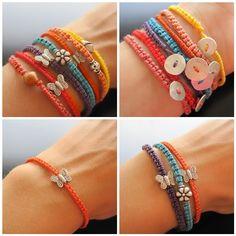 Macrame Bracelets by Maria Apostolou, via Flickr