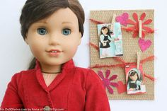 Cute bulletin board craft idea for dolls.