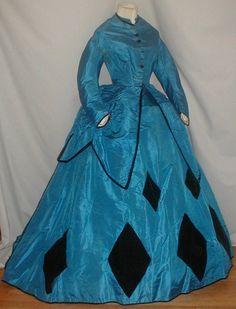 Queen of Diamonds Blue 1860'sDress ‹ Reader — WordPress.com