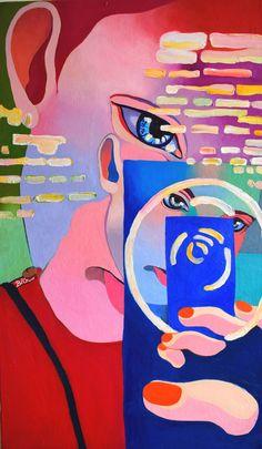 Borbala Ida Gergely - Selfie 100x60 cm Öl auf Leinwand 2016 Disney Characters, Fictional Characters, Selfie, Art, Paper, Book Binding, Oil On Canvas, Arts And Crafts, Creative