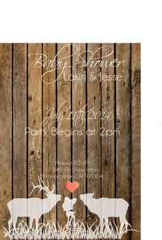 Hey, I found this really awesome Etsy listing at https://www.etsy.com/listing/178987949/rustic-country-elk-baby-shower