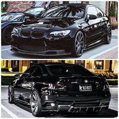 Black Bmw M3 with Vossen wheels