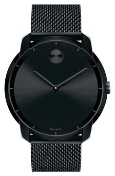 Free shipping and returns on Movado 'Bold' Mesh Strap Watch, 44mm at Nordstrom.com. A sleek mesh strap completes the streamlined style of a polished stainless-steel watch designed with a signature Movado Museum dot at 12 o'clock.