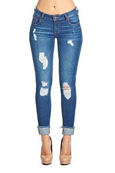 New Trending Denim: Blue Age Womens Destroyed Stretch Skinny Jean (9, JP1035_MDWASH). Blue Age Womens Destroyed Stretch Skinny Jean (9, JP1035_MDWASH)  Special Offer: $27.99  222 Reviews Zipper Closure2% Additional Stretch Super ComfortableWAIST SIZES: 1-25 3-26 5-27 7-28 9-29 11-30 13-31 15-32Inseam- 30 inchWomen Junior Fit