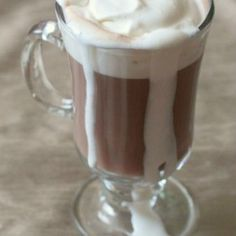 Spiked Hot Chocolate with Marshmallow Vodka Whipped Cream | Nutmeg Nanny