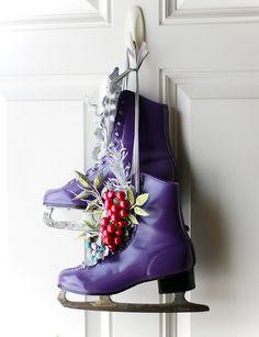 Karácsonyi korcsolya dekoráció és DIY