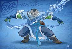 This is kind of awesome! Avatar The Last Airbender and Teenage Mutant Ninja Turtles! Two of my favorite things combined!Leonardo waterbender by tanya-buka