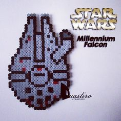 Millennium Falcon Star Wars perler beads by duastin_toyland (Cool Sketches Star Wars)