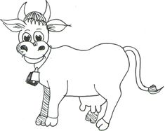 Step 07 cow How to Draw Cartoon Cows / Farm Animals Step by Step Drawing Tutorial
