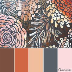 Burnt orange color trend meets blush pink and gray color palette. Based on the Wall Art Painting by Amborela on Etsy Orange Color Schemes, Orange Color Palettes, Burnt Orange Color, Orange Paint Colors, Gray Color, Color Combinations, Burnt Orange Rooms, Rustic Color Palettes, Copper Colour Palette