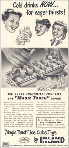 Magic Touch Ice Cube Trays.