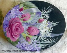 Painted roses box