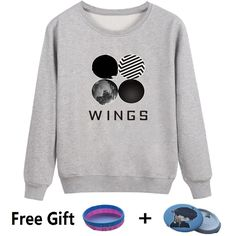 Aliexpress.com: Comprar BTS Kpop Sudadera Mujeres Coreanas Popual BTS Bangtan niños Otoño Invierno Mujeres Sudaderas Sudaderas Alas Hip Hop Ropa Casual de sweatshirt wings fiable proveedores en Four Seasons Clothes Store