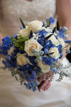 tardis blue wedding bouquet