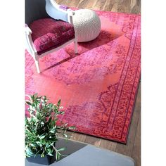 nuLOOM Vintage Inspired Overdyed Rug (5' x 8') - Overstock™ Shopping - Great Deals on Nuloom 5x8 - 6x9 Rugs