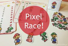 Pixel Race! Vocabulary game. Perfect to practice shapes with kids