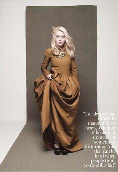 suicideblonde:  Dakota Fanning photographed by Karen Collins for InStyle, December 2012