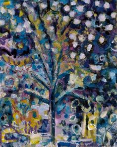When Snow Fell on Bonnard's Almond Blossom.. by Tim smith