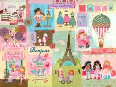 """""""A Piece of Paris"""" - Canvas Wall Art from our April featured artists The Winborg Sisters!"""