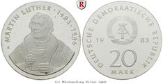 RITTER DDR, 20 Mark 1983, Luther, J. 1591, PP #coins #numismatics