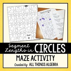Segment Lengths in Circles (Chords, Secants, and Tangents) Maze