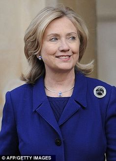 'I haven't got time to worry about make-up,' says Hillary Clinton as she hits back at critics of her fresh-faced look Hillary Clinton Pantsuit, Mini Photo, Weekend Is Over, No Worries, Presidents, Make Up, Female, Celebrities, Pretty