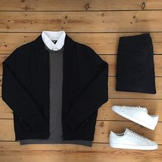 bomber jackets are becoming ever more popular / here is nice, yet comfortable way to style them