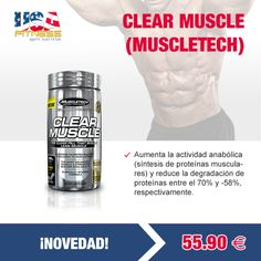 ¡¡NOVEDAD!! --> CLEAR MUSCLE (#MUSCLETECH)  http://usafitness.es/es/pre-entreno/2350-clear-muscle.html
