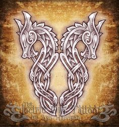 Celtic Knotwork Dragons by Ash-Harrison www.stella-stroy-dv.ru