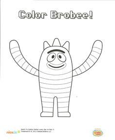 Yo Gabba Gabba! coloring pages on Coloring-Book.info   Mason's ...