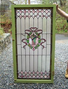 Antique Victorian leaded stained glass window circa 1880 in excellent condition. Description from ebay.com. I searched for this on bing.com/images