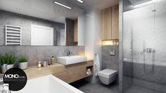 przestrzeń & światło - Średnia łazienka w domu jednorodzinnym, styl nowoczesny - zdjęcie od MONOstudio