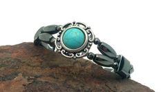 Hematite Magnetic Therapy Bracelet Double by PineBranchDesigns, $34.00
