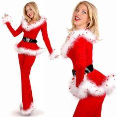 Sexy Mrs Santa Claus Adult Christmas Costume Outfit 3pcs 7201 Sz 8 10 | eBay