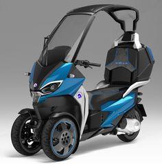 L'Adiva AD1 est un scooter 125cm3 à 3 roues et toit rigide escamotable