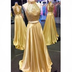 Two Piece Prom Dress, 2017 Sparkly Beads Long Prom Dress, Gold Long Prom Dress sold by modsele. Shop more products from modsele on Storenvy, the home of independent small businesses all over the world.