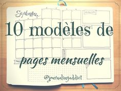 bullet journal page mensuelle monthly layout spread titre Bullet Journal Calendrier, Bullet Journal Journaling, Bullet Journal En Français, Bullet Journal Layout, Bullet Journal Inspiration, Journal Pages, Bullet Journal Month Page, Journal Ideas, Bullet Journal Monthly Calendar