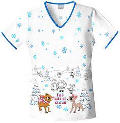 Holiday Christmas Scrubs by Cherokee Tooniforms Medical Uniforms, Work Uniforms, Cute Medical Scrubs, Nurse Scrubs, Cute Scrubs Uniform, Scrubs Pattern, Disney Scrubs, Cherokee Scrubs, Scrub Life