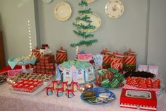 Cute Christmas Cookie Party table setting!