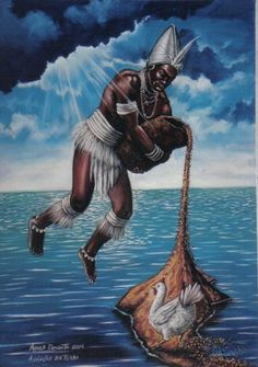 """Orinxalá ou Obatalá, """"O Grande Orixá"""" ou """"O Rei do Pano Branco"""". Foi o primeiro a ser criado por Olodumaré, o deus supremo. Tinha um caráte..."""