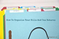 How To Organize Your Bills And Tax Returns   via www.foodstoragemoms.com